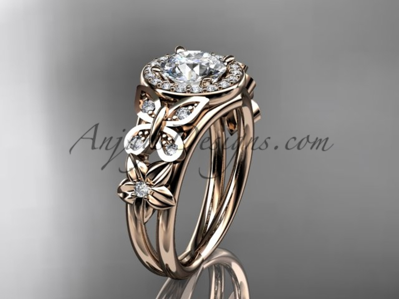 rings tone jewelry wedding two wish fabulous proposal c size ring rose gift cocktail party floral large gold diamond women flowers band s