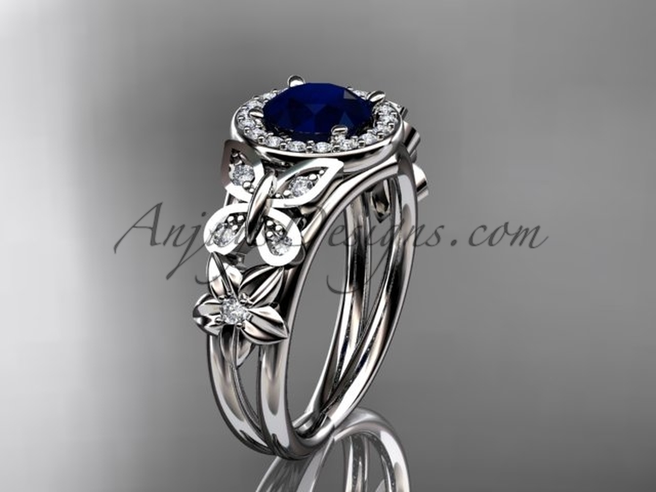 engagement previous bands vintage and view diamond product top ring sapphire