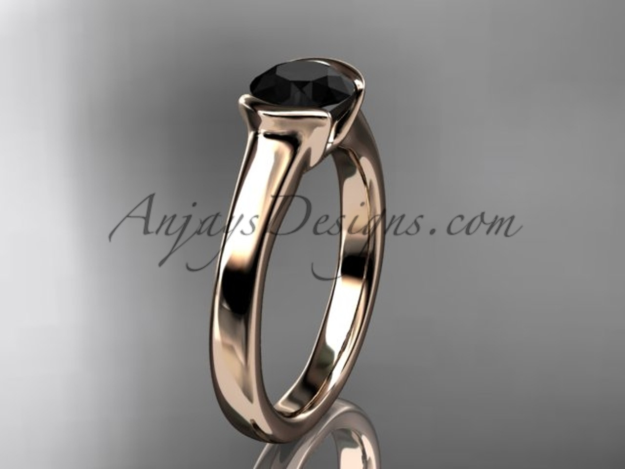 Unusual Wedding Rings Rose Gold Proposal Ring VD10016