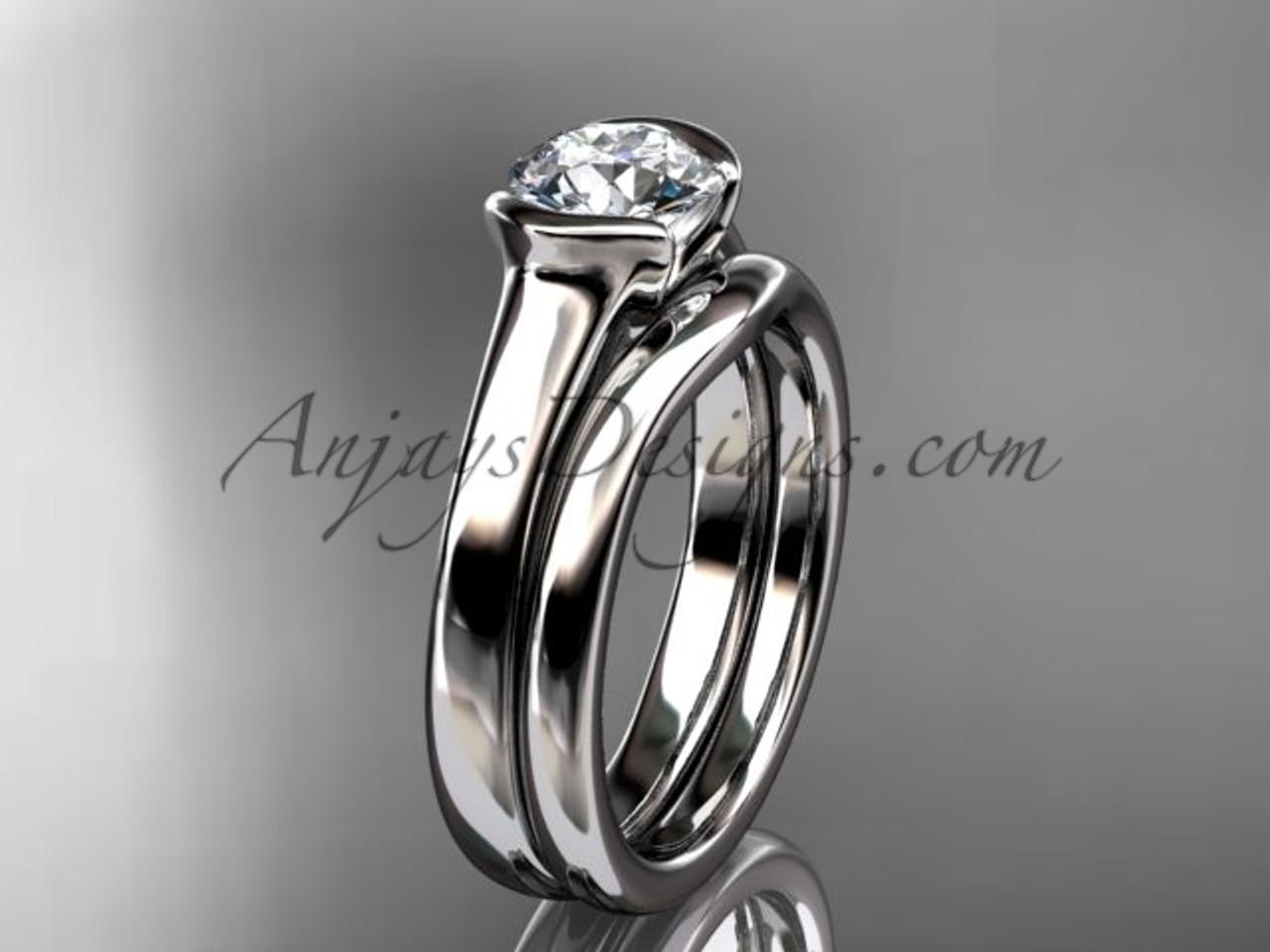 Beautiful Wedding Ring Sets White Gold Vintage Ring Vd10016s