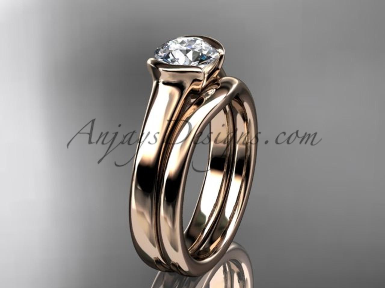 Wedding ring sets rose gold vintage ring vd10016s beautiful wedding ring sets rose gold vintage ring vd10016s junglespirit Choice Image