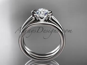 Beautiful Wedding Ring Set Platinum Forever One Moissanite Engagement Rings Vd10016s