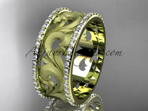14kt yellow gold diamond engagement ring, wedding band ADLR121BD