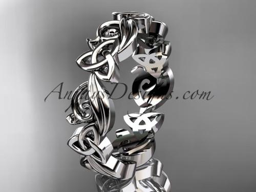 Celtic Wedding Rings no Diamonds Platinum Band CT7191B