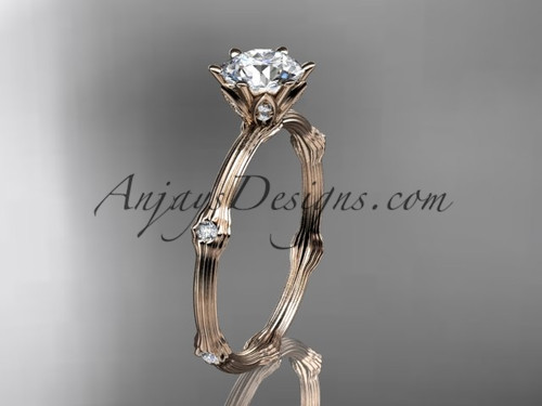 Vine Engagement Ring - Rose Gold Diamond Ring ADLR38