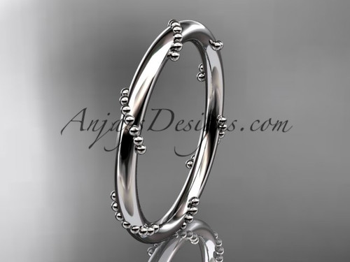 14k white gold engagement ring, wedding band ADLR502G