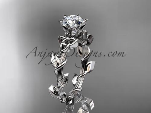 14kt white gold diamond celtic trinity knot wedding ring, engagement ring CT7248
