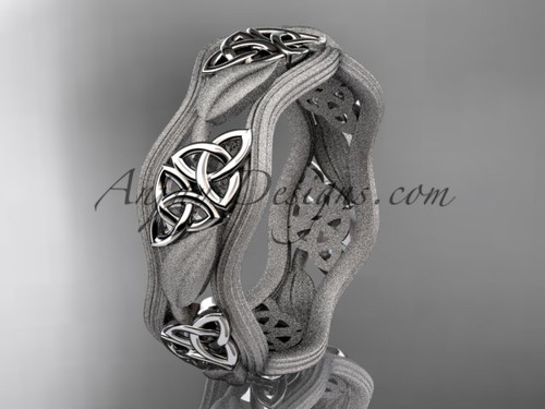 platinum celtic trinity knot wedding band, engagement  ring CT7504GM