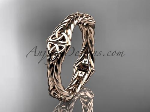 14k rose gold celtic twisted rope wedding band RPCT9356G