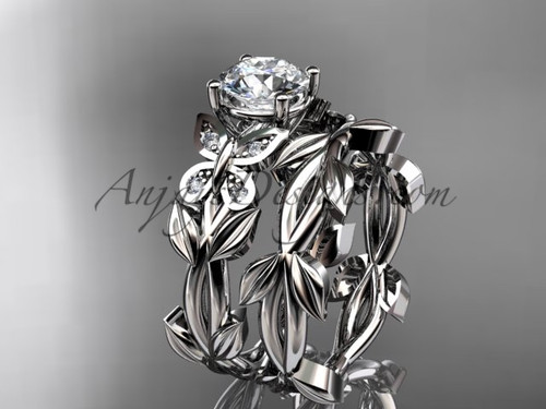 Butterfly Bridal Sets - Platinum Diamond Ring ADLR526S
