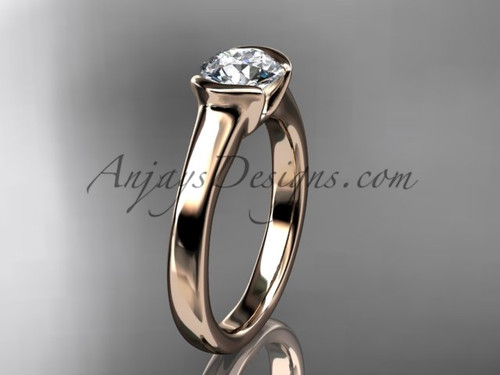 Affordable Antique Engagement Rings 14kt Rose Gold Beautiful Moissanite Wedding  Ring VD10016