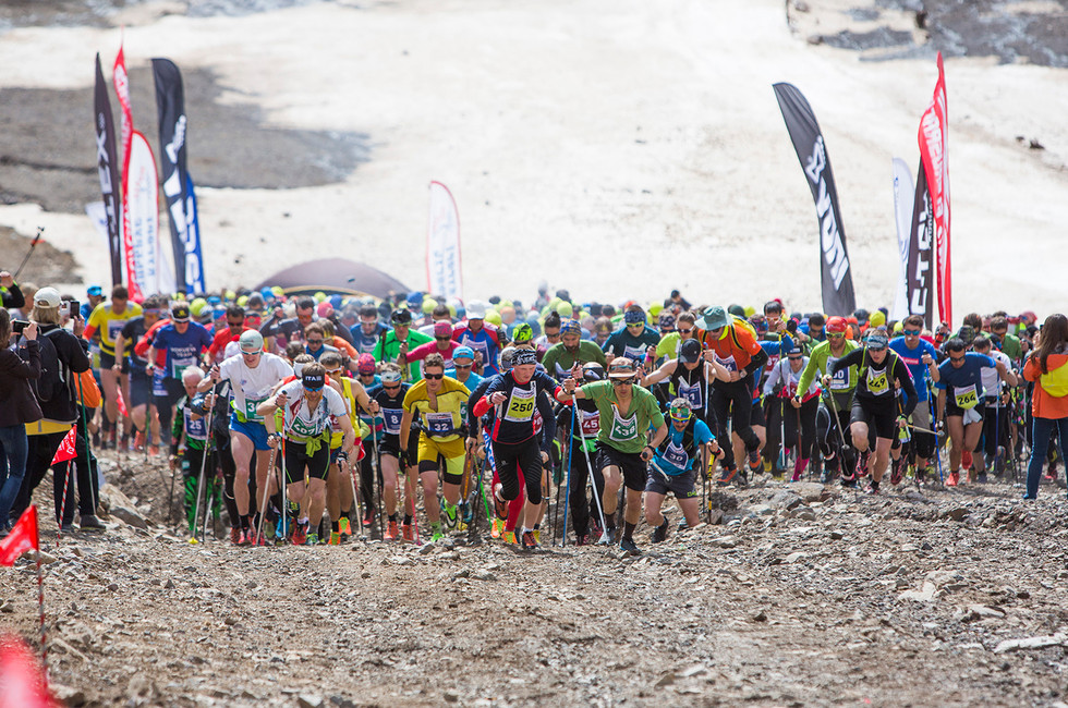 The feast of mountain race. Vertical Kilometer® - Mt Elbrus, 2450-3450 m.