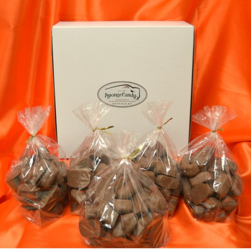 5 lb box of Sponge Candy choose from 1/2 lb and 1 lb bags SAVE $10!