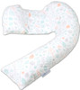 Dreamgenii Pregnancy, Support and Feeding Pillow Nature Grey/Coral