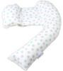 Dreamgenii Pregnancy, Support and Feeding Pillow Geo Grey/Aqua