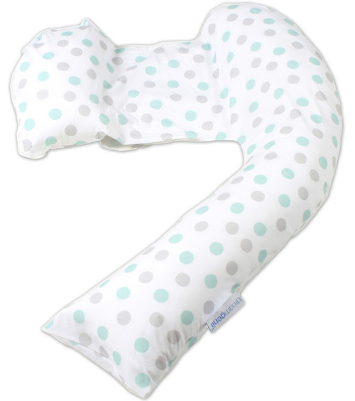 Dreamgenii Pregnancy, Support and Feeding Pillow Geo Grey/Aqua