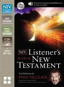 NIV, Listener's Audio Bible, New Testament, Audio CD - ISBN: 9780310444367