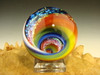 Dichroic Glass Vortex Marble Illussion Art Fibonacci Rainbow Spiral by Mazet VGW