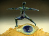 Glass Yoga Goddess Sculpture / Figurene 'Yoga Goddess in warrior pose' by Mia Shea asana boro art paperweight 'ready to ship'