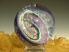Dichroic Glass Vortex Marble Purple and Gold Air trap Fibonacci Spiral by Tim Mazet VGW (ready to ship)