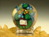 Art Glass Green Goblin Third eye Marble Collectible Orb Sphere Monster Diety Kaleb Folck (Ready to Ship)