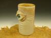 Hand blown Glass Eye Jar or Shot Glass Flameworked Art by Eli Mazet (ready to ship)
