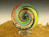 Dichroic Glass Vortex Marble Illusion Art Fibonacci Spiral by Tim Mazet VGW (Ready to Ship)