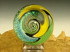 Dichroic Glass Vortex Marble wig-wag Orb By Tim Mazet oddity Lampwork Art Orb (ready to ship)