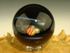 Large Glass Space Scene Art Marble by KIMMO Opal Comet Planet Galaxy orb Sphere
