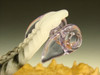 Deluxe Glass Feather Pendant Oddity lampwork Boro focal bead - Key chain VGW Elly (Ready to Ship)