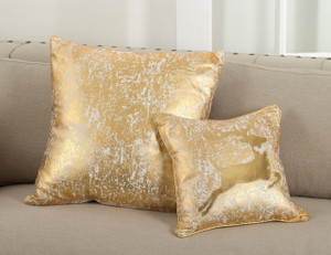 Fennco Styles Donnelou Collection Metallic Design Down Filled Cotton Throw Pillow