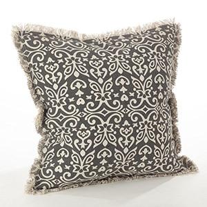 """Fennco Styles Naxos Collection Geometric Design Down Filled Cotton Throw Pillow - 20""""x20"""""""