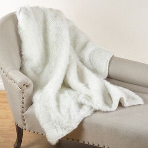 """Fennco Styles Juneau Faux Fur Throw Blanket - 50""""W x 60""""L"""
