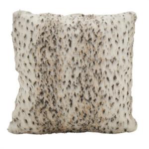 Fennco Styles Faux Fur Plush Sable Poly Filled Throw Pillow