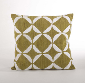 Ayla Crewel Work Down Filled Throw Pillow, 18-inch Square