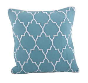 Stitched Moroccan Down Filled Decorative Throw Pillow, 18-inch Square