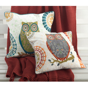 Owl Down Filled Throw Pillow