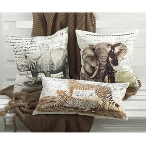 Wild Animal Design Cotton Down Filled Decorative Throw Pillow