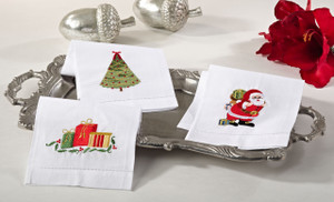 Adorable Holiday Christmas Napkin, Set of 4
