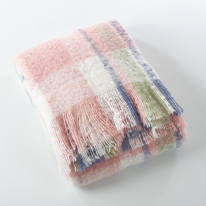 Fennco Styles Sevan Collection Faux Mohair Design Throw Blanket