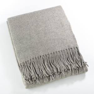 Fennco Styles Sevan Collection Classic Design Wool Blend Throw Blanket