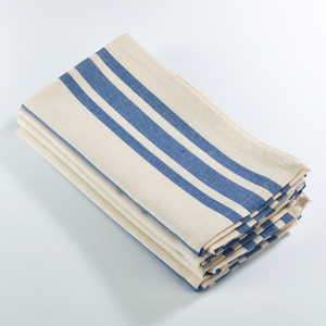 Fennco Styles Dauphine Collection Striped Design Dinner Napkin - 20-inch Square - Set of 4