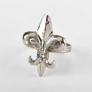 Fennco Styles Collection Fleur De Lis Design Napkin Ring - Set of 4