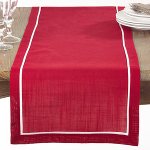 """Chancy Classic Pleated Table Runner, 16""""x70"""" Rectangular"""