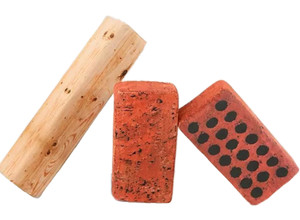 Fennco Styles Creative High-Elastic Imitated Wood Log Brick Children's Toys Neck Support Pillow