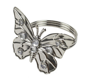 Fennco Styles Lightweight Design Butterfly Napkin Ring - Set of 4