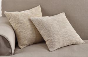 Fennco Styles Woven Metallic Design Lure Cotton Down Filled Throw Pillow