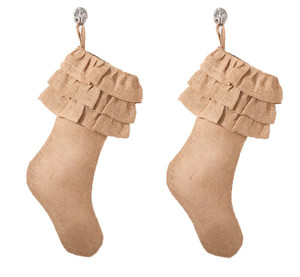 Ruffled Design Christmas Stocking