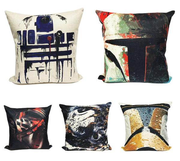 "Fennco Styles Sci-Fi Fantasy Linen Blend Decorative Throw Pillow - 17""X17"" - 5 Designs"