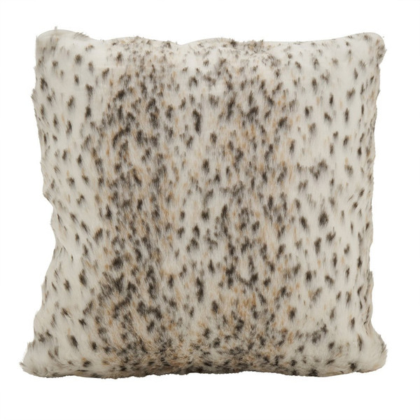Fennco Styles Faux Fur Plush Sable Poly Filled Throw Pillow